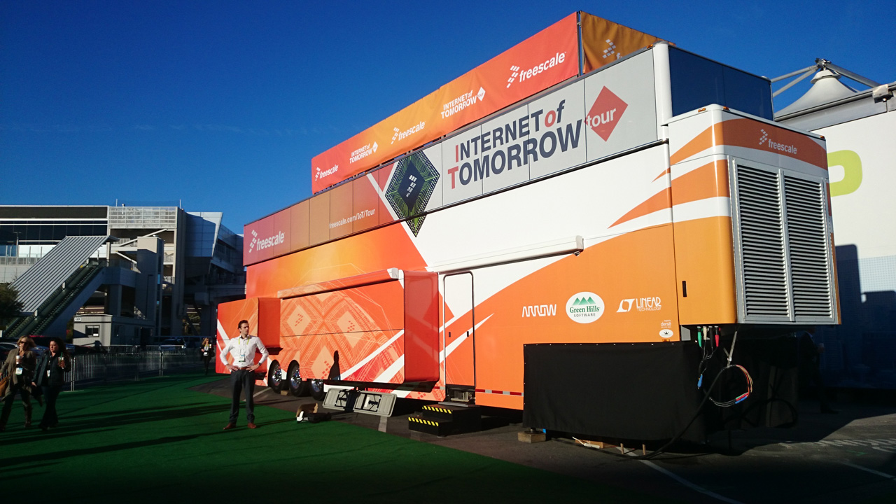 SPIN remote at CES 2015 - Freescale IoT truck