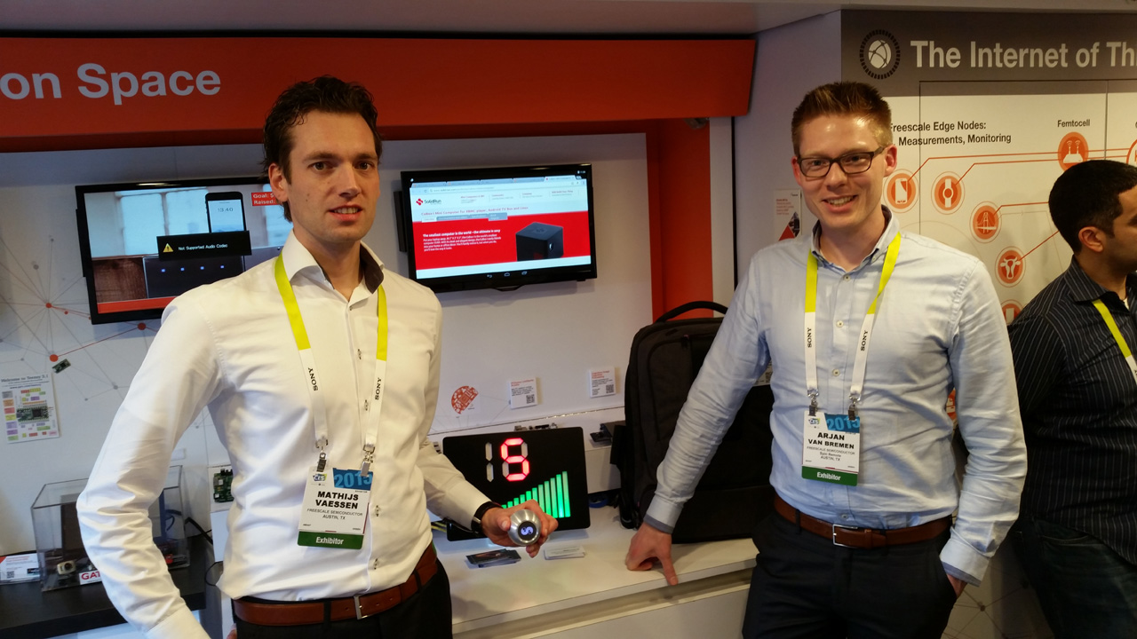 SPIN remote at CES 2015 - The team